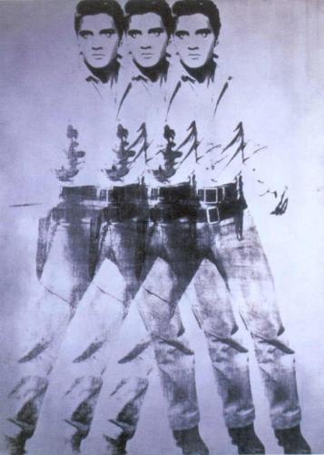 Andy Warhol, Elvis (triple Elvis), 1963, 35x28 cm
